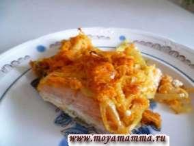 Красная рыба запеченная в духовке с овощами