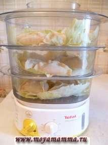 Приготовление еды в пароварке