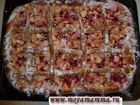Рецепт пирога с брусникой