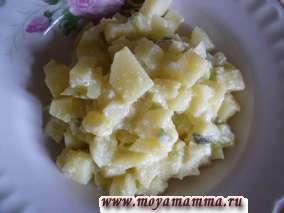 Рецепт картофеля в молоке с зеленым луком и сыром