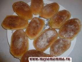 Рецепт пирожков с капустой и грибами