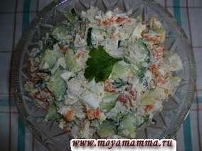 рецепт зимнего салата с морковью