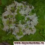 Салат из маргеланской редьки с курицей
