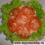 Салат из моркови с яблоком и горошком