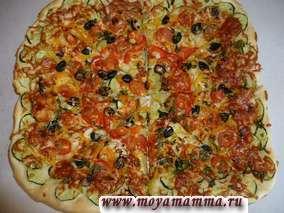 Рецепт пиццы с овощами