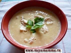 Рецепт горохового супа пюре с курицей