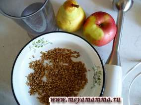 ингредиенты для коктейля из пророщенной пшеницы