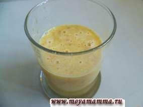 коктейль из пророщенной пшеницы с апельсином