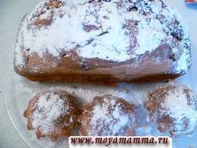 Кекс на кефире с какао или мраморный кекс