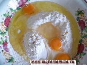 яйца, соль, растительное масло