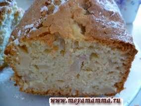Персиковый кекс с кокосовой стружкой