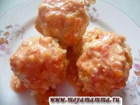 тефтели из курицы в томатном соусе