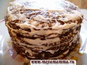 Рецепт закусочного тортика из печени