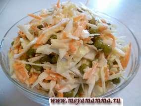 Салат из свежей капусты с майонезом