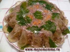 Рецепт с фото. Холодец из свинины с говядиной