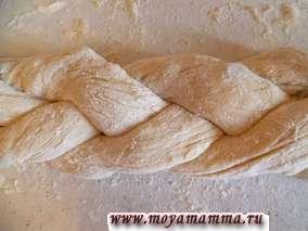 дрожжевое тесто с медом для плетеного калача