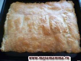 Пирог из пресного слоеного теста с картофелем