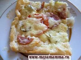 Рецепт пиццы из готового слоеного теста