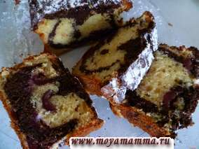 Рецепты кекса с творогом, черешней и какао