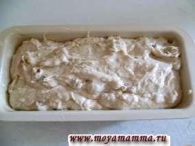 Кекс с грецкими орехами в форме