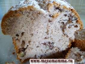 Кекс с грецкими орехами
