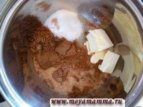шоколадная глазурь для кекса с абрикосовым вареньем и шоколадной глазурью