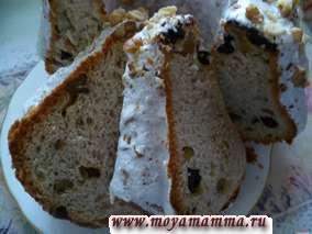 Кулич с грецким орехом