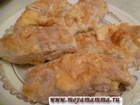 Рулетики из филе курицы с сыром