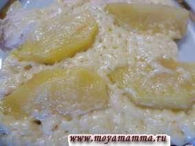 запеканка с филе, яблоком и сыром