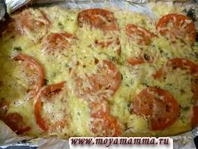 запеканка из куриного филе с помидорами и сыром