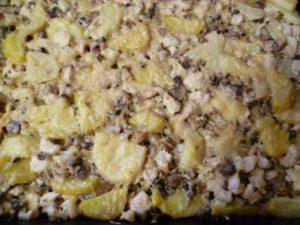 филе курицы с картофелем и грибами в духовке