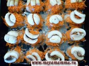 рыбные котлеты с грибами