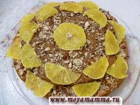 Домашний торт с апельсинами и орехами