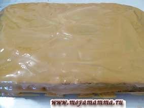 самые простые рецепты торта в домашних условиях - смазывание кремом