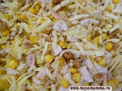 Рецепты салатов с омлетом. Салат с грецкими орехами и омлетом