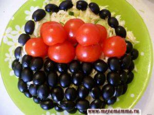 Украшение для салатов из овощей своими руками