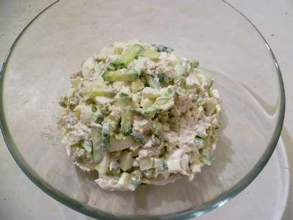 зимний салат горкой