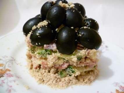 оформление порционного салата