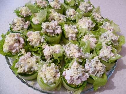 Украшение салатов -зимний салат