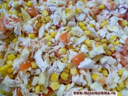 Рецепты салатов с омлетом