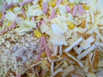 ингредиенты для салата с омлетом