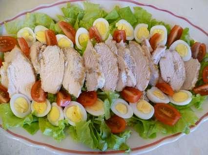 Украшение салатов. Оформление салата Цезарь дома