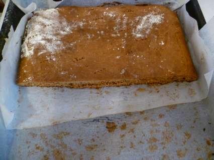 Быстрый медовый торт без раскатывания коржей. Разрезание пополам.