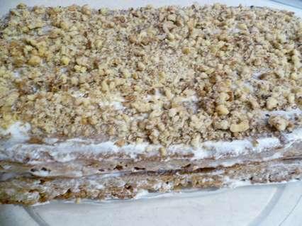посыпка верха медового торта