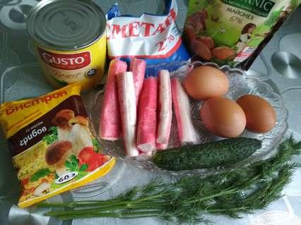 Ингредиенты в салат из роллтона