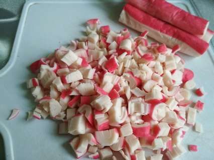 Крабовые палочки для салата с макаронами