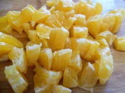 Апельсины для салата с пекинской капустой