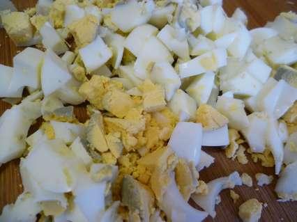 яйца для салата с пекинской капустой