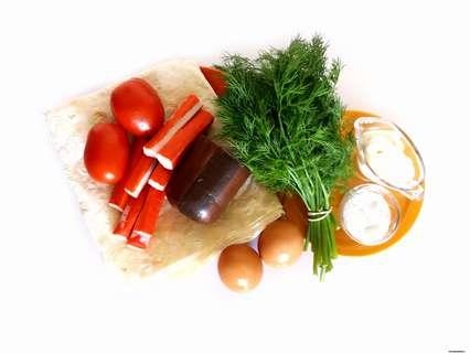 ингредиенты для рулетика из лаваша