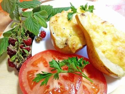 груша с креветками и сыром